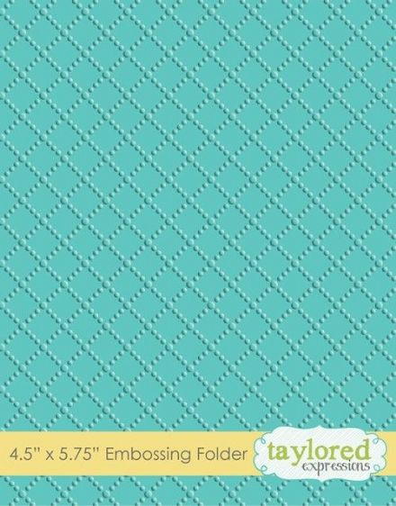TEEF15 ~ DOTTED LATTICE~ Embossing folder ~ Taylored Expressions